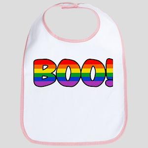 Halloween Rainbow BOO Bib