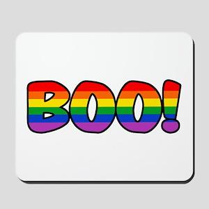 Halloween Rainbow BOO Mousepad
