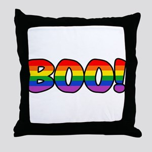 Halloween Rainbow BOO Throw Pillow