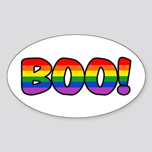Halloween Rainbow BOO Sticker (Oval)