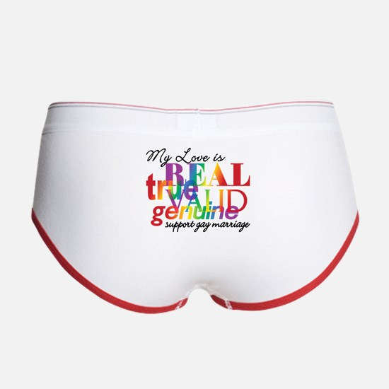 My Love Is Real Gay Marriage Women's Boy Brief