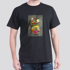 Balinese Offering Baskets Dark T-Shirt
