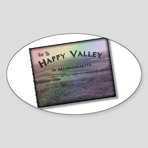 Happy Valley Massachusetts Sticker (Oval)