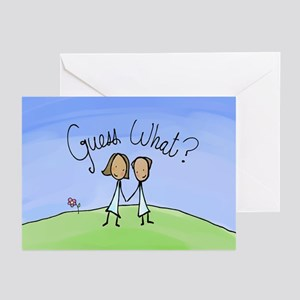 Guess What Two Brides Greeting Cards (Pk of 10)