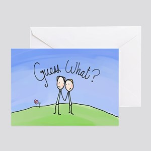 Guess What Two Grooms Greeting Cards (Pk of 10)