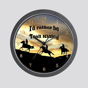 Rather Be Trail Riding - Wall Clock