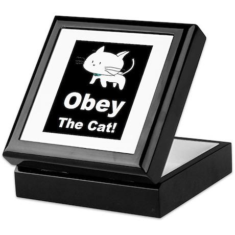 Obey the Cat! Keepsake Box