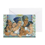 Amarna Family Portrait Greeting Card