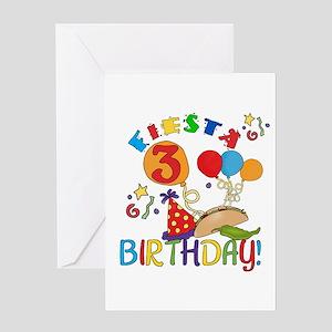 Fiesta 3rd Birthday Greeting Card