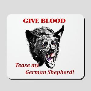 shepherd tease Mousepad