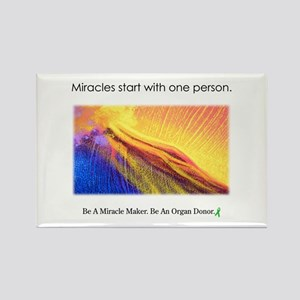 One Person Miracle Rectangle Magnet
