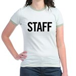 Staff (black) Jr. Ringer T-Shirt