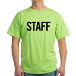 Staff (black) Green T-Shirt