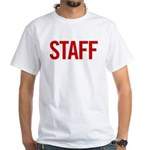 Staff (red) White T-Shirt