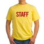 Staff (red) Yellow T-Shirt