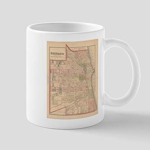 Vintage Map of Chicago Illinois (1876) Mugs