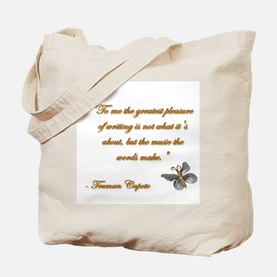 Music of Words Tote Bag