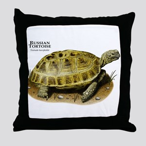 Russian Tortoise Throw Pillow