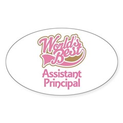 Worlds Best Assistant Principal Sticker (Oval)