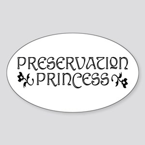 Preservation Princess Oval Sticker
