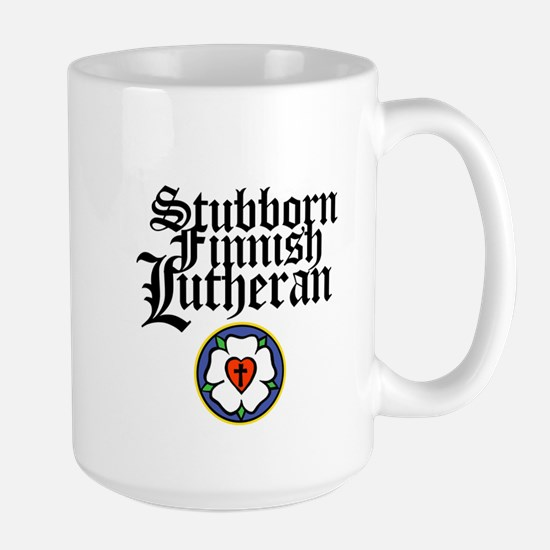 Stubborn Finnish Lutheran Large Mug