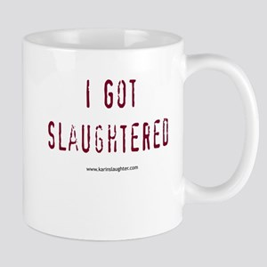 2-slaughteredstackedshirt Mugs