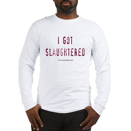 2-slaughteredstackedshirt Long Sleeve T-Shirt
