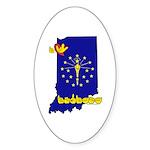ILY Indiana Sticker (Oval 10 pk)