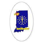 ILY Indiana Sticker (Oval 50 pk)