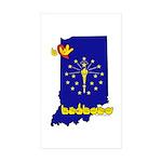 ILY Indiana Sticker (Rectangle 50 pk)
