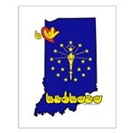 ILY Indiana Small Poster