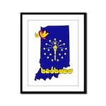 ILY Indiana Framed Panel Print