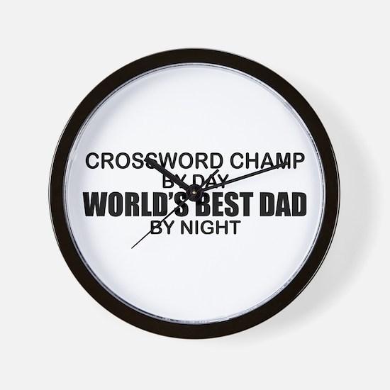 World's Greatest Dad - Crossword Champ Wall Clock