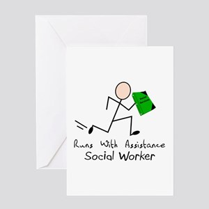 Stick People Occupations Greeting Card