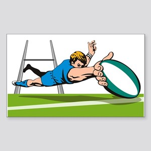Rugby Sticker (Rectangle)