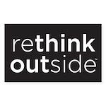 Rethink Outside (black) Sticker