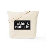 Rethink Outside (black) Tote Bag