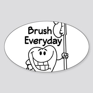 Dental Brush Everyday Sticker (Oval)