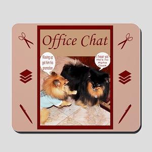 Office Pomeranian Mousepad