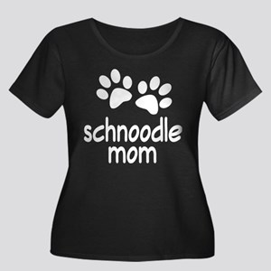 Cute Schnoodle Mom Women's Plus Size Scoop Neck Da