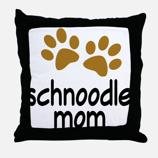 Cute Schnoodle Mom Throw Pillow