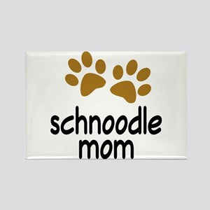 Cute Schnoodle Mom Rectangle Magnet