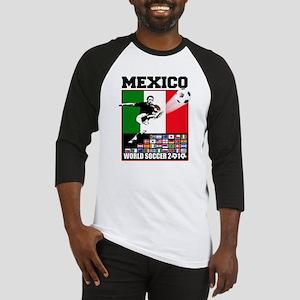 Mexico World Soccer Fútbol Baseball Jersey