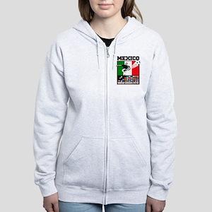 Mexico World Soccer Fútbol Women's Zip Hoodie