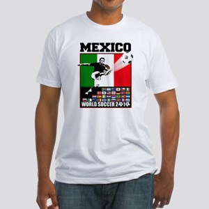Mexico World Soccer Fútbol Fitted T-Shirt