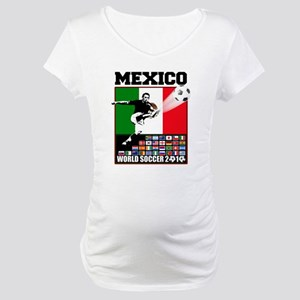 Mexico World Soccer Fútbol Maternity T-Shirt