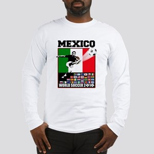Mexico World Soccer Fútbol Long Sleeve T-Shirt