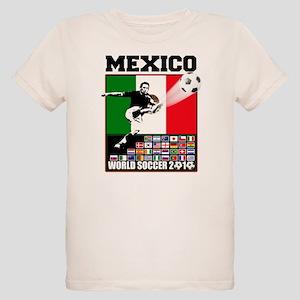 Mexico World Soccer Fútbol Organic Kids T-Shirt