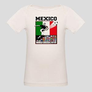 Mexico World Soccer Fútbol Organic Baby T-Shirt