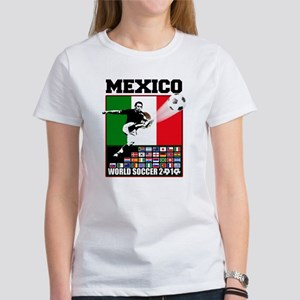 Mexico World Soccer Fútbol Women's T-Shirt